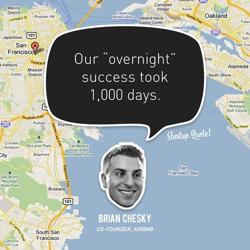 """Our """"overnight"""" success took 1,000 days."""
