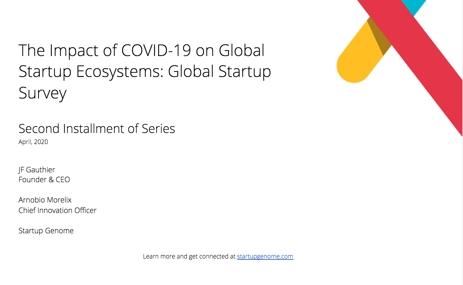 The Impact of COVID-19 on Global Startup Ecosystems: Global Startup Survey